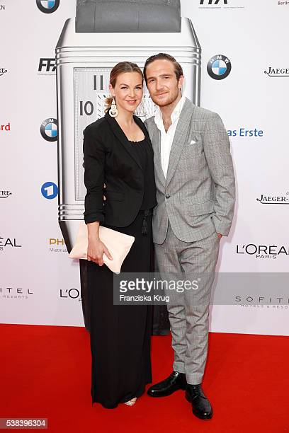 Annika Lau and her husband Frederick Lau during the Lola German Film Award 2016 on May 27 2016 in Berlin Germany