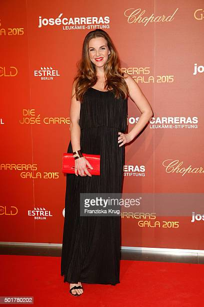 Annika Lau clutch bracelet by Porsche Design Woman attends the 21th Annual Jose Carreras Gala at Hotel Estrel on December 17 2015 in Berlin Germany