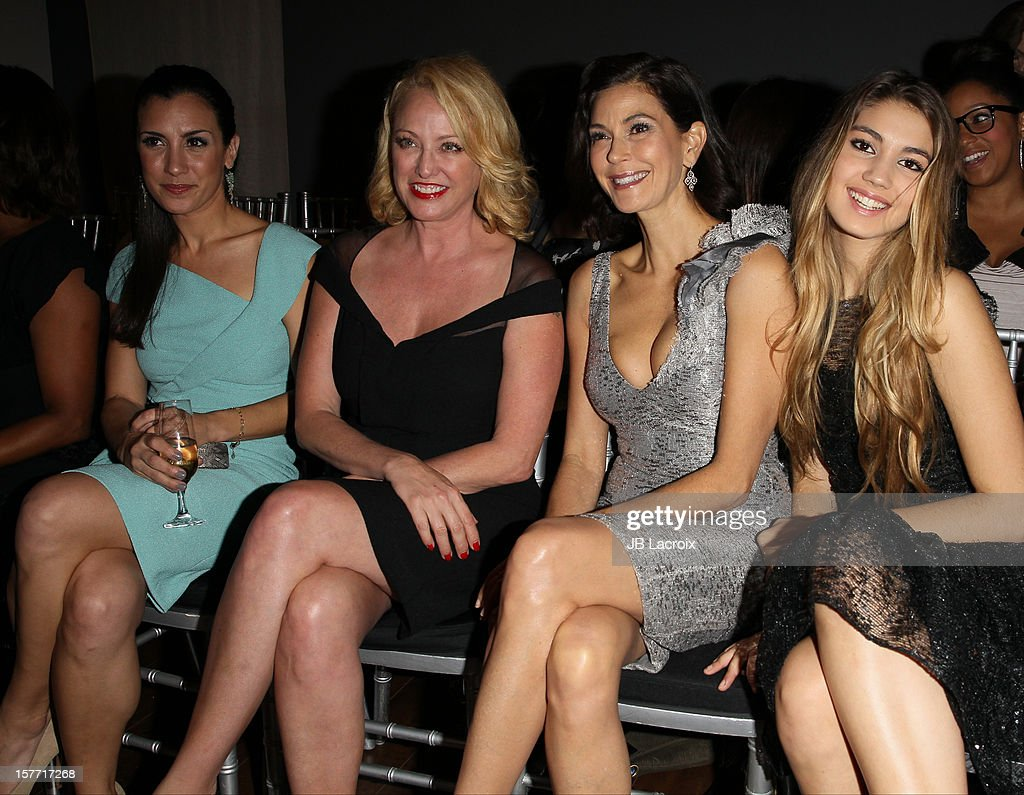 Annika Marks, Virginia Madsen, Teri Hatcher, Emerson Rose TenneyVirginia Madsen, Teri Hatcher and Emerson Rose Tenney attend the Kevan Hall Presents His Spring 2013 Collection on December 5, 2012 in Los Angeles, California.