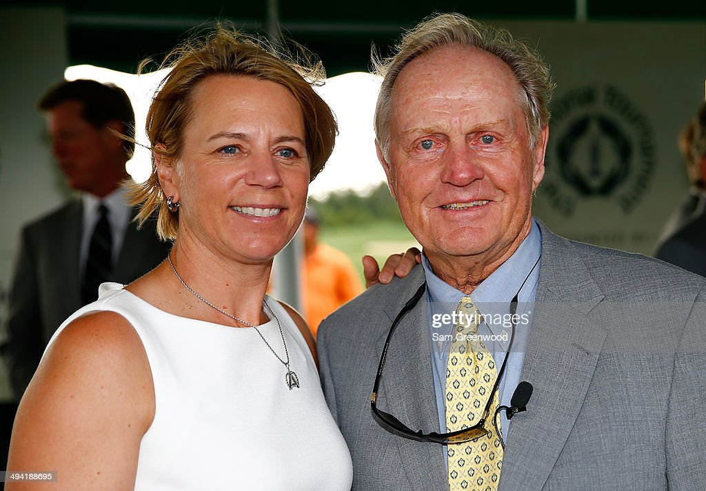 <a gi-track='captionPersonalityLinkClicked' href=/galleries/search?phrase=Annika+Sorenstam&family=editorial&specificpeople=201780 ng-click='$event.stopPropagation()'>Annika Sorenstam</a> (L) poses with <a gi-track='captionPersonalityLinkClicked' href=/galleries/search?phrase=Jack+Nicklaus&family=editorial&specificpeople=93565 ng-click='$event.stopPropagation()'>Jack Nicklaus</a> following the memorial induction ceremony prior to the Memorial Tournament presented by Nationwide Insurance at Muirfield Village Golf Club on May 28, 2014 in Dublin, Ohio.