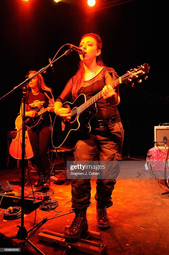 Annika von Grey of Von Grey performs at Headliners Music Hall on February 6, 2013 in Louisville, Kentucky.