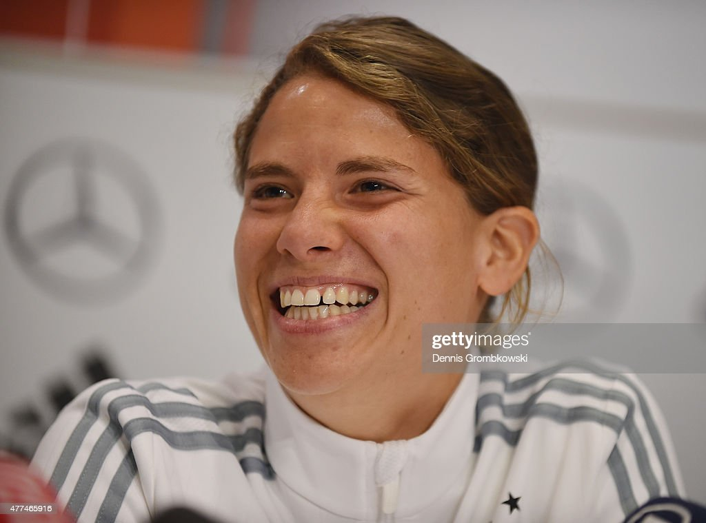 Annike Krahn of Germany attends a press conference at Westin Hotel on June 17 2015 in Ottawa Canada