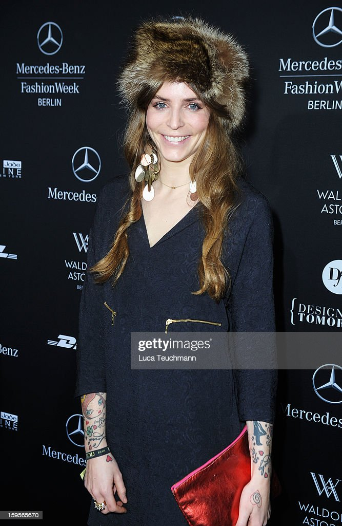 Annina Roescheisen attends Blacky Dress Autumn/Winter 2013/14 fashion show during Mercedes-Benz Fashion Week Berlin at Brandenburg Gate on January 16, 2013 in Berlin, Germany.