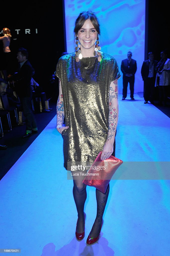 Annina Roescheisen attends Dimitri Autumn/Winter 2013/14 fashion show during Mercedes-Benz Fashion Week Berlin at Brandenburg Gate on January 16, 2013 in Berlin, Germany.