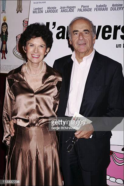 L' Anniversaire Premiere In Paris On September 19Th 2005 In Paris France Here Jean Pierre Elkabbach And His Wife Nicole Avril