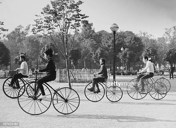 Anniversary Of The First Penny Farthing Race At Paris In France On October 24Th 1970