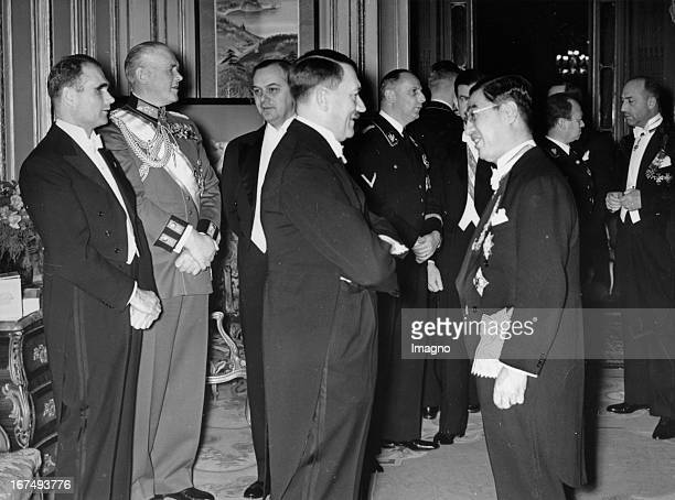 Anniversary of the signing of the GermanJapanese AntiComintern Agreement at the Japanese embassy in Berlin Rudolf Hess Field Marshal Werner von...