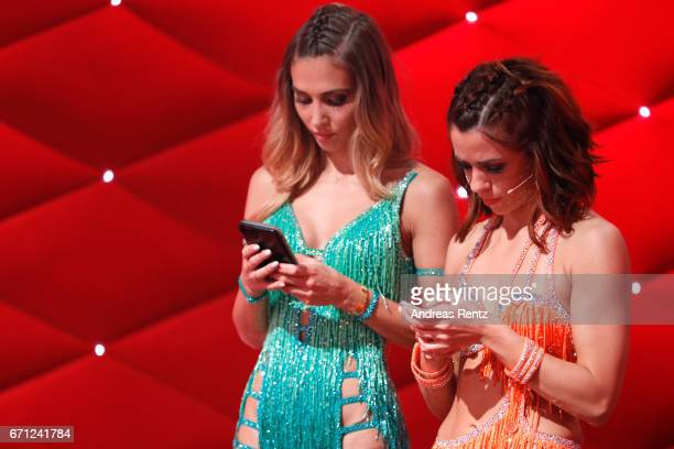 AnnKathrin Broemme and Vanessa Mai during the 5th show of the tenth season of the television competition 'Let's Dance' on April 21 2017 in Cologne...