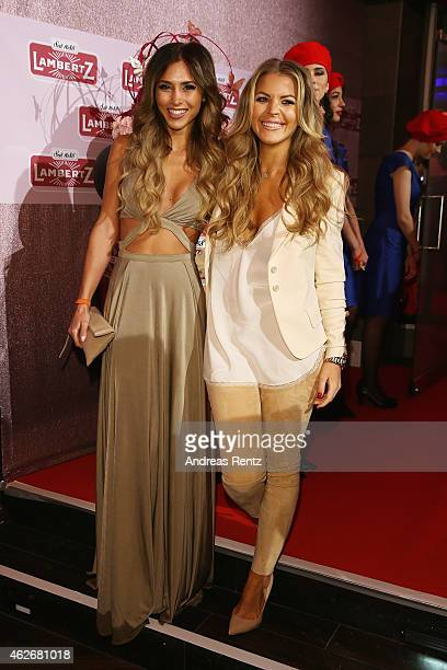 AnnKathrin Broemmel and guest arrive for the Lambertz Monday Night 2015 at Alter Wartesaal on February 2 2015 in Cologne Germany