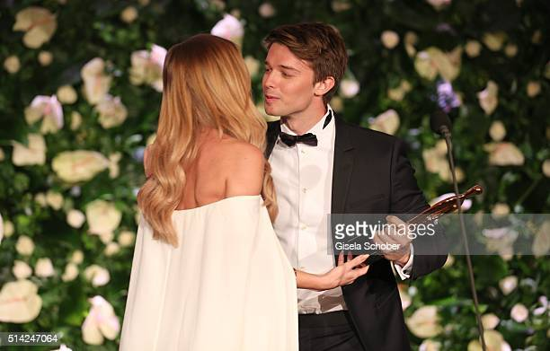AnnKathrin Broemmel and Patrick Schwarzenegger during the PEOPLE Style Awards at Hotel Vier Jahreszeiten on March 7 2016 in Munich Germany