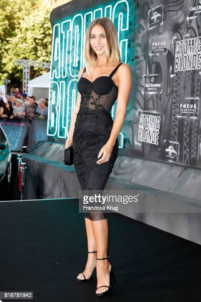AnnKathrin Broemmel attends the 'Atomic Blonde' world premiere at Stage Theater on July 17 2017 in Berlin Germany