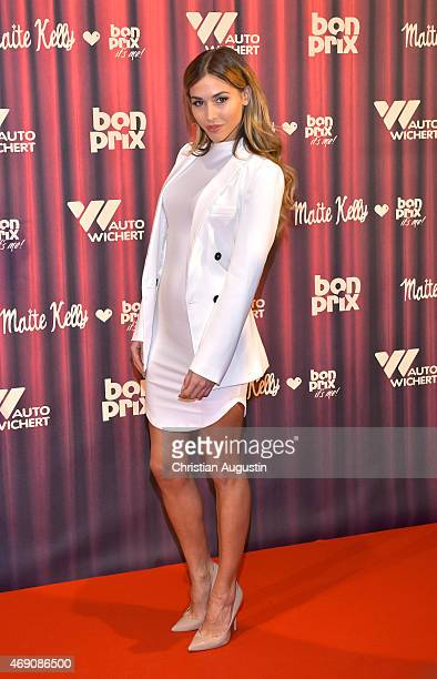 AnnKathrin Broemmel attends the 'Maite Kelly bonprix' Spring/Summer 2015 Collection Presentation at AutoWichertWelt on April 9 2015 in Hamburg Germany
