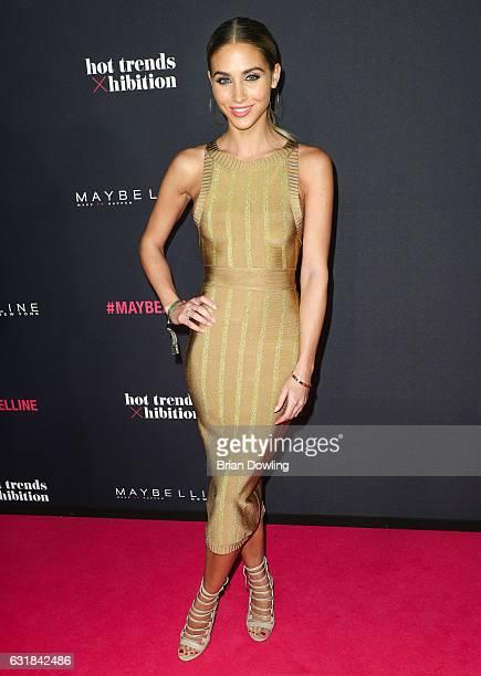AnnKathrin Broemmel attends the Maybelline Hot Trendsxhbition 2017 show during the MercedesBenz Fashion Week Berlin A/W 2017 at Motorenwerk on...