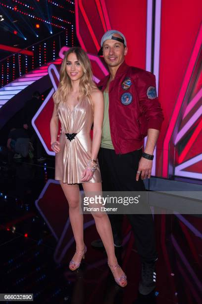 AnnKathrin Broemmel during the 4th show of the tenth season of the television competition 'Let's Dance' on April 7 2017 in Cologne Germany