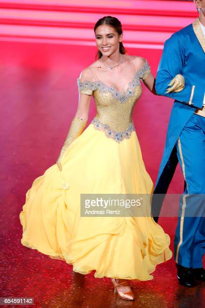 AnnKathrin Broemmel is seen on stage during the 1st show of the tenth season of the television competition 'Let's Dance' on March 17 2017 in Cologne...