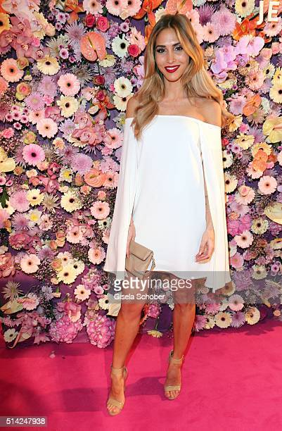 AnnKathrin Broemmel model and fiance of Mario Goetze during the PEOPLE Style Awards at Hotel Vier Jahreszeiten on March 7 2016 in Munich Germany