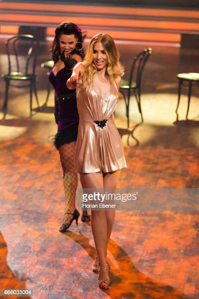 AnnKathrin Broemmel perform on stage during the 4th show of the tenth season of the television competition 'Let's Dance' on April 7 2017 in Cologne...