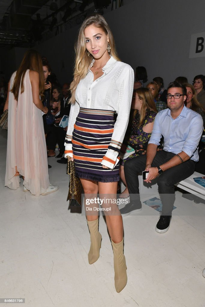 Ann-Kathrin Brommel attends the Marcel Ostertag fashion show during New York Fashion Week: The Shows at Gallery 3, Skylight Clarkson Sq on September 13, 2017 in New York City.