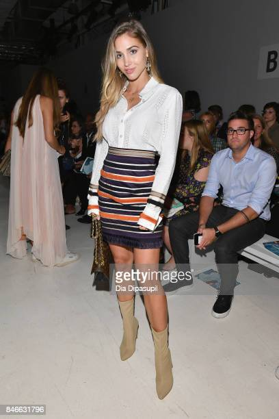 AnnKathrin Brommel attends the Marcel Ostertag fashion show during New York Fashion Week The Shows at Gallery 3 Skylight Clarkson Sq on September 13...