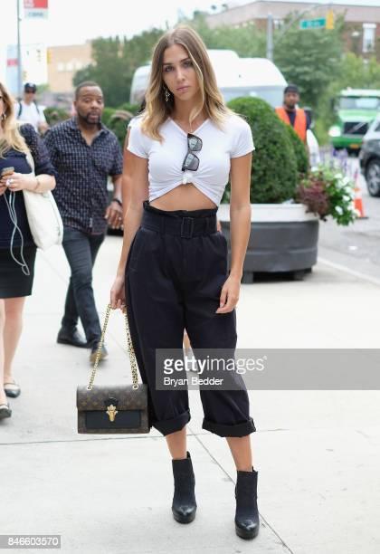 AnnKathrin Brommel attends the Pharrell Williams And GStar RAW Present The New GStar Elwood X25 Prints New York Fashion Week Spring/Summer 2018 on...