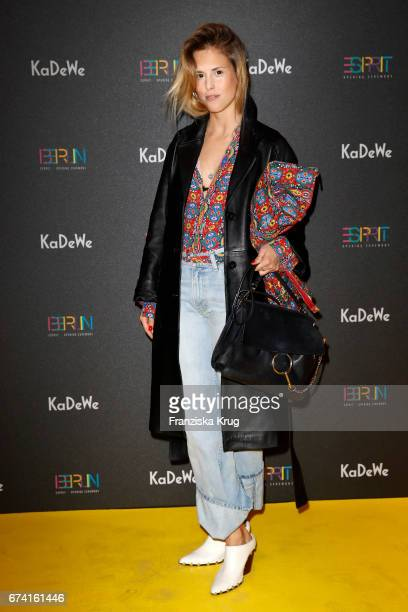AnnKathrin Grebner attends the KaDeWe Launch Event 'Esprit by Opening Ceremony' on April 27 2017 in Berlin Germany