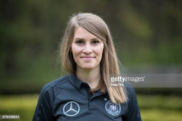 AnnKathrin Kleiber poses during the Germany U15 team presentation on May 2 2017 in Ermelo Netherlands