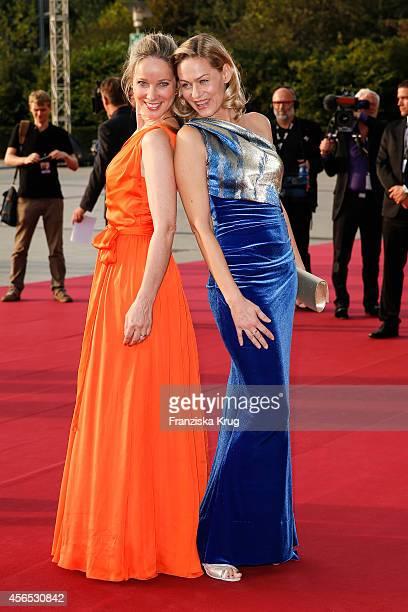 AnnKathrin Kramer and Gesine Cukrowski attend the red carpet of the Deutscher Fernsehpreis 2014 on October 02 2014 in Cologne Germany