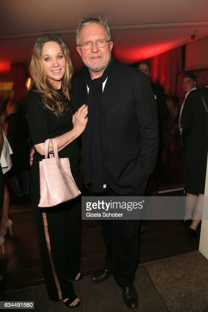 AnnKathrin Kramer and her husband Harald Krassnitzer during the Berlin Opening Night by GALA and UFA Fiction at hotel 'The Stue' on February 9 2017...