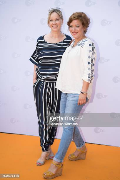 AnnKathrin Kramer and Muriel Baumeister attend the ZDF reception during the Munich Film Festival at Hugo's on June 27 2017 in Munich Germany