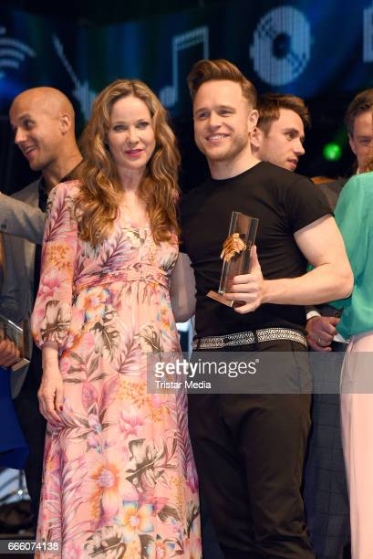 AnnKathrin Kramer and Olly Murs attend the Radio Regenbogen Award 2017 After Party at EuropaPark on April 7 2017 in Rust Germany