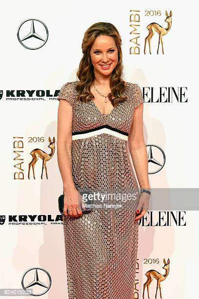AnnKathrin Kramer arrives at the Bambi Awards 2016 at Stage Theater on November 17 2016 in Berlin Germany