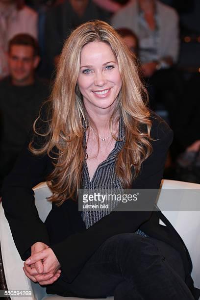 AnnKathrin Kramer die deutsche Schauspielerin zu Gast bei der Talkshow Markus Lanz in Hamburg