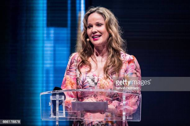 AnnKathrin Kramer holds a speech during the Radio Regenbogen Award 2017 at Europapark on April 7 2017 in Rust Germany