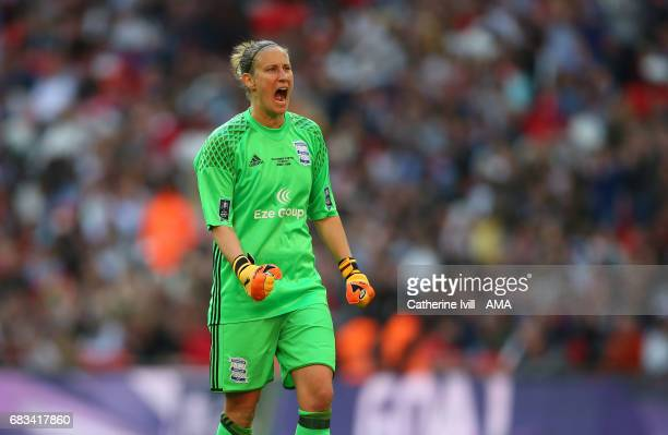 LONDON ENGLAND MAY 13 AnnKatrin Berger of Birmingham City Ladies during the SSE Women's FA Cup Final between Birmingham City Ladies and Manchester...