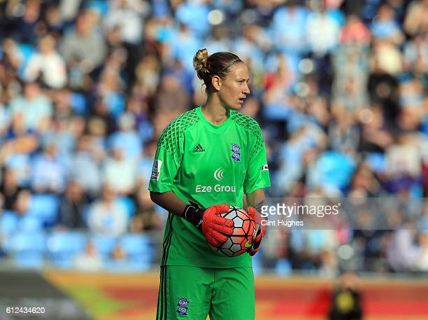 AnnKatrin Berger of Birmingham City Ladies in action during the Continental Cup Final between Manchester City Women and Birmingham City Ladies at The...