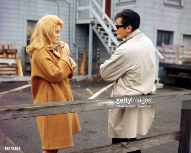 AnnMargret as Kristine Pedak and Alain Delon as Eddie Pedak in 'Once a Thief' directed by Ralph Nelson 1965