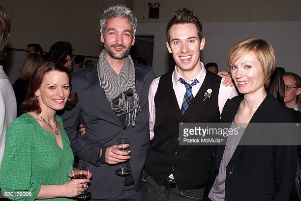 Annmaria Mazzini Jared Cocken Adam MacLean and Lara Cocken attend PAUL TAYLOR DANCE Hosts Cocktails for YOUNG PATRONS at 552 Broadway on November 11...