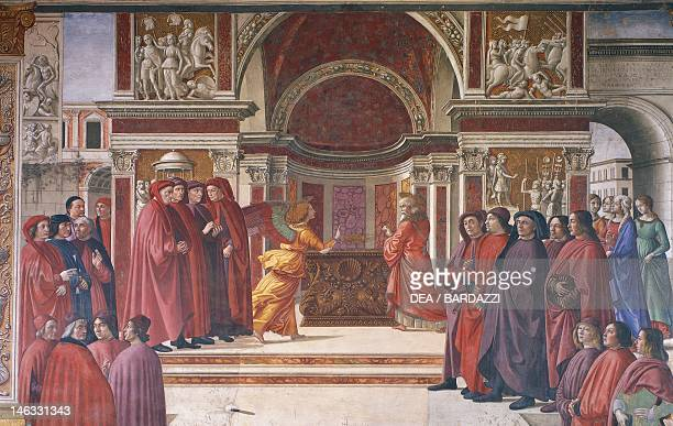 Announcement of the angels to Zechariah detail from Stories of St John the Baptist 14851490 by Domenico Ghirlandaio fresco The Main Chapel or...