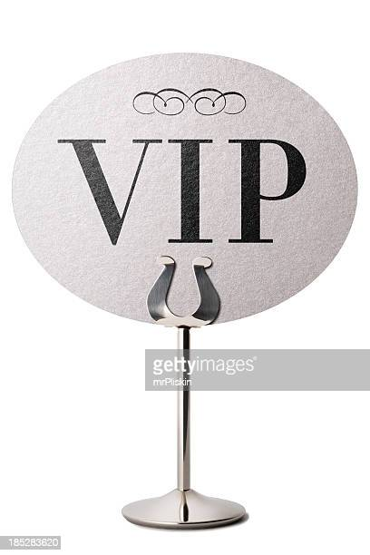 VIP announcement table stand