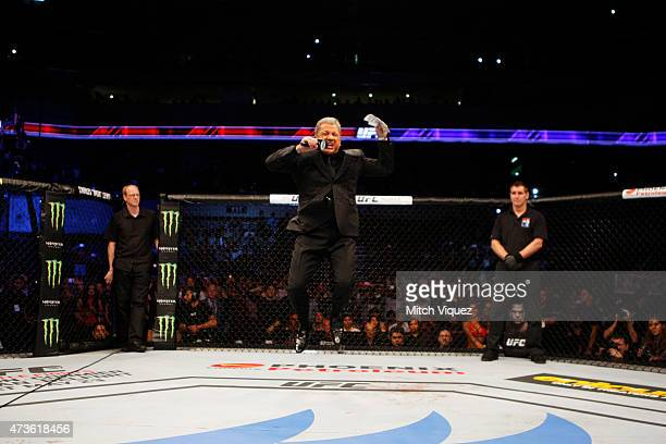 UFC announcer Bruce Buffer during the UFC Fight Night event at the Mall of Asia Arena on May 16 2015 in Manila Philippines