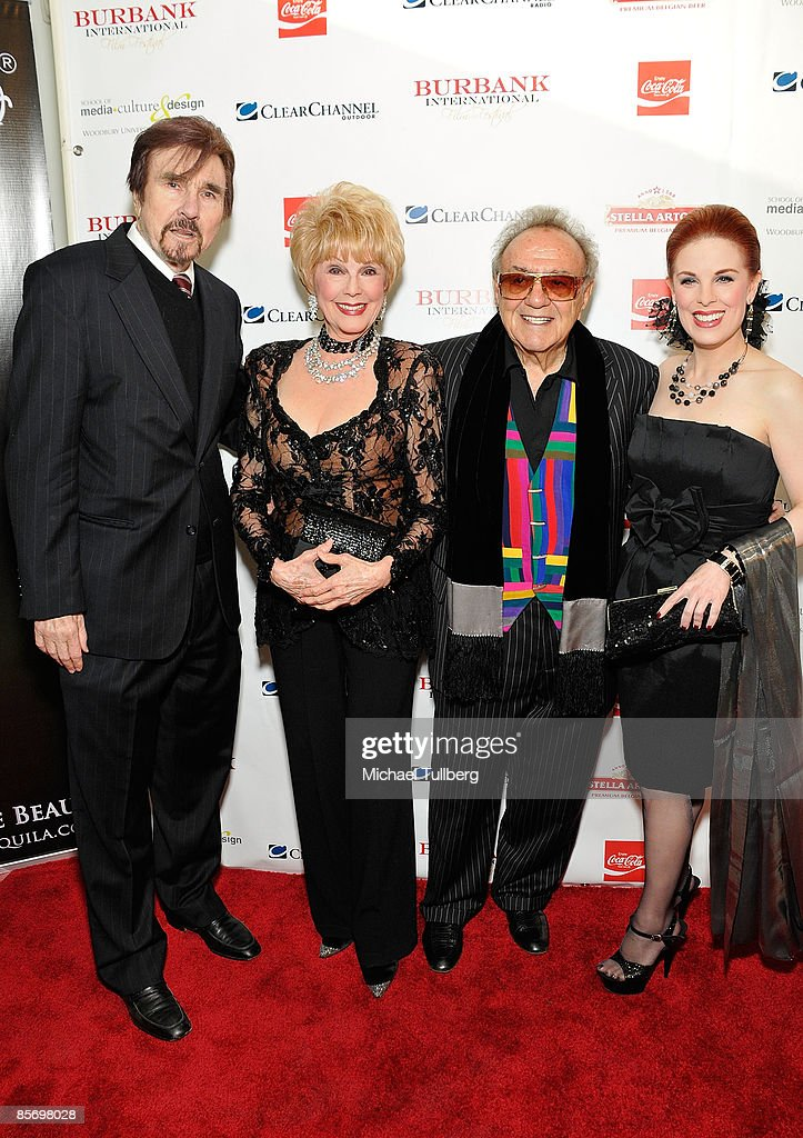 Announcer Gary Owens, B.I.F.F. Board Member Karen Kramer, celebrity car designer <a gi-track='captionPersonalityLinkClicked' href=/galleries/search?phrase=George+Barris+-+Car+Designer&family=editorial&specificpeople=560096 ng-click='$event.stopPropagation()'>George Barris</a> and actress Kat Kramer arrive at the Closing Night Gala for the 1st Annual Burbank International Film Festival, held at Woodbury University on March 29, 2009 in Burbank, California.