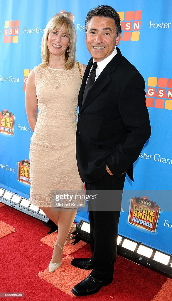 Announcer Joe Cipriano arrives with wife Anne Cipriano at the GSN's 1st Annual Game Show Awards at the Wilshire Theatre Beverly Hills on May 16, 2009 in Beverly Hills, California.