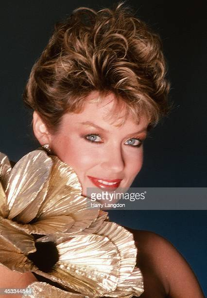 TV announcer Mary Hart poses for a portrait in 1985 in Los Angeles California
