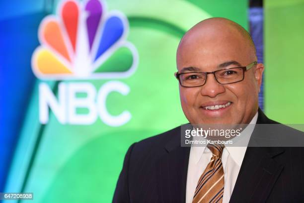Announcer Mike Tirico attends the NBCUniversal Press Junket at the Four Seasons Hotel New York on March 2 2017 in New York City