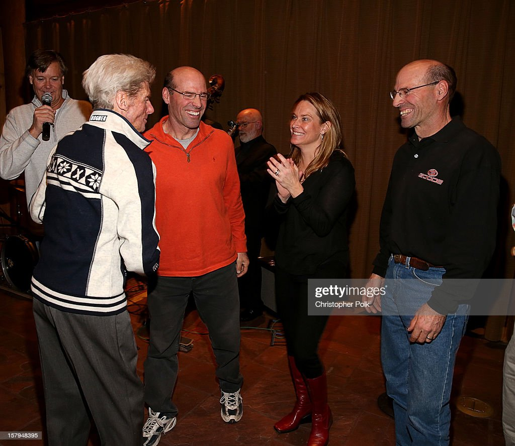 Announcer Tom Gross, Olympic Skiers Stein Eriksen, Phil Mahre, Heidi Voelker and Steve Mahre attend the Deer Valley Celebrity Skifest at Deer Valley Resort on December 7, 2012 in Park City, Utah.