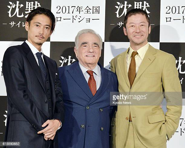 Announcing the release of his new film 'Silence' Martin Scorsese attends a press conference together with actors Yosuke Kubozuka and Tadanobu Asano...