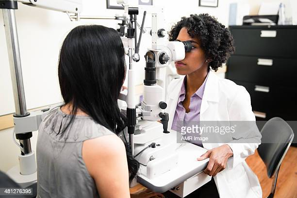 Annual eye exam by optometrist