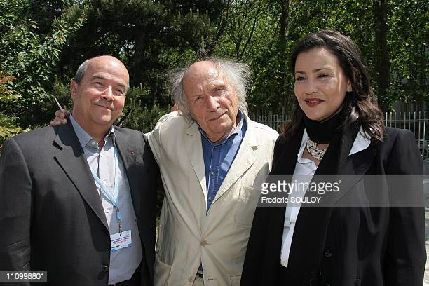 Annual Meeting of Goodwill Ambassadors of UNESCO in Paris France on May 20th 2008 Patrick Baudry Ivry Gitlis and SAR Princess Lalla Meryem