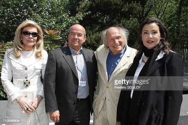 Annual Meeting of Goodwill Ambassadors of UNESCO in Paris France on May 20th 2008 SAR Princess Firyal Patrick Baudry Ivry Gitlis and SAR Princess...