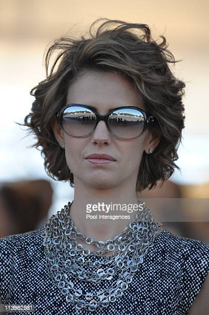 Annual military parade along the Champs Elysees in celebration of Bastille Day in Paris France on July 14 2008Syrian First Lady Asma Al Assad attends...